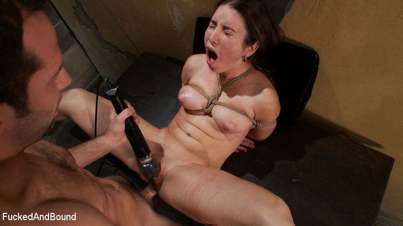 roped up hentai bitch hammered hard by a large dick