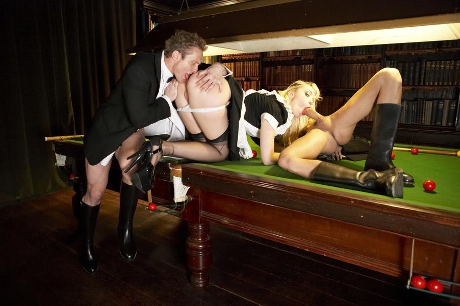 Share your sex billiard table maid