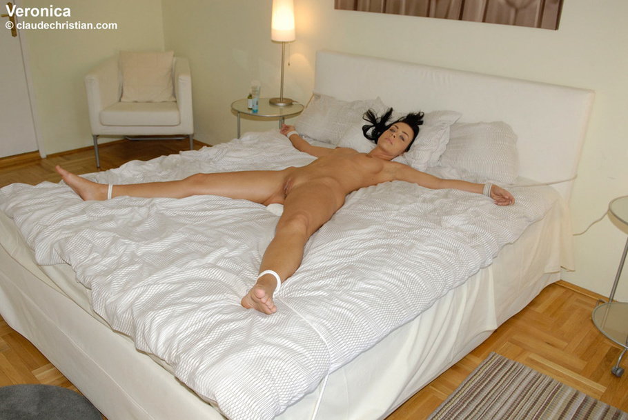 Tied Spread On Bed And Shaved