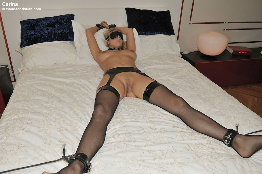 image Tied up and blindfolded german babe fisted