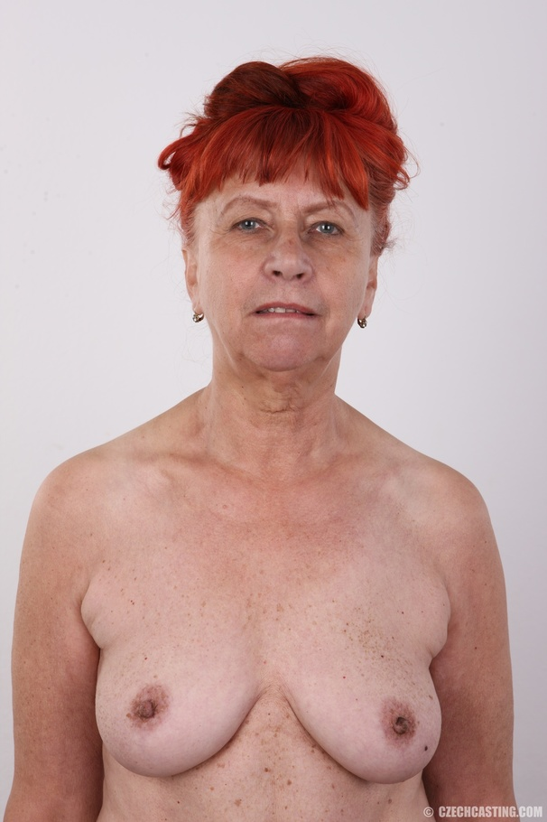 Redhead Granny Takes Off Her Black Shirt, W - Xxx Dessert -1683
