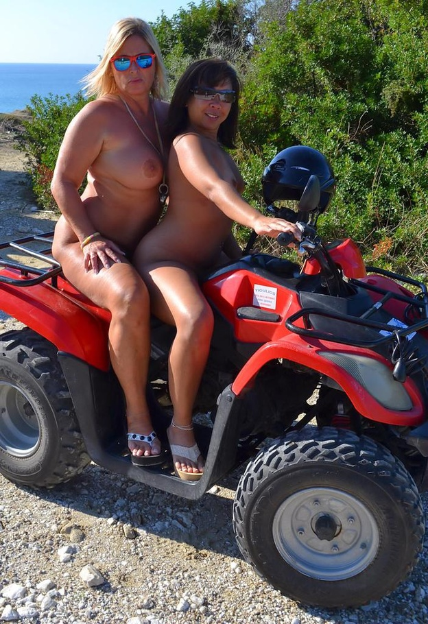 Impudence! Naked on a quad