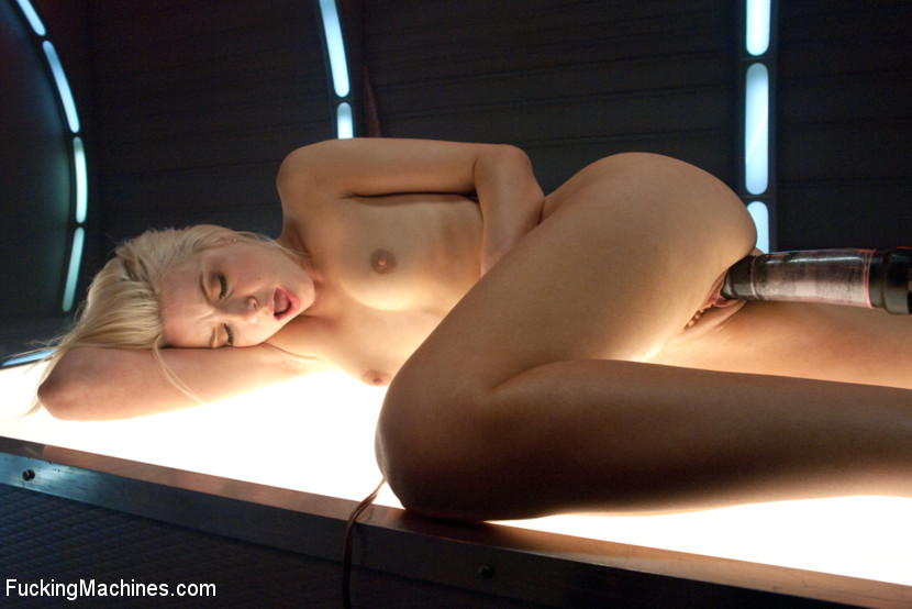 Small tits blonde fucked with a machine on  - XXX Dessert - Picture 2
