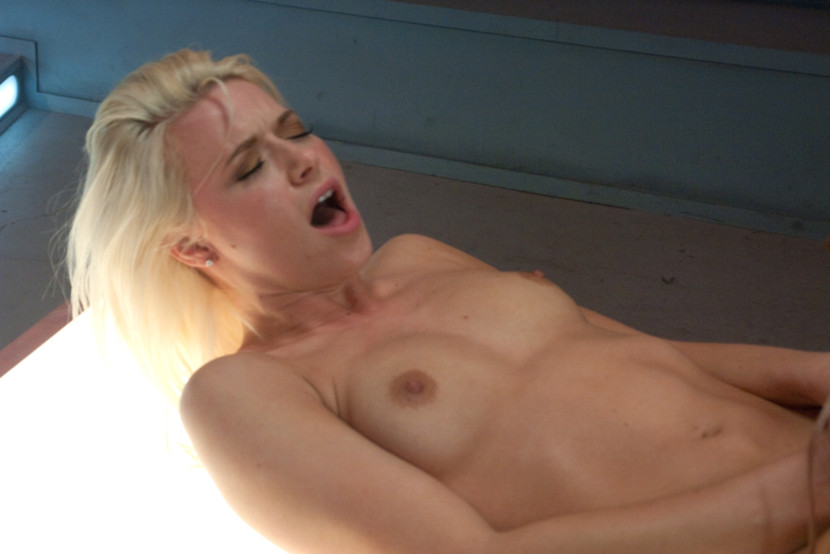 Small tits blonde fucked with a machine on  - XXX Dessert - Picture 5