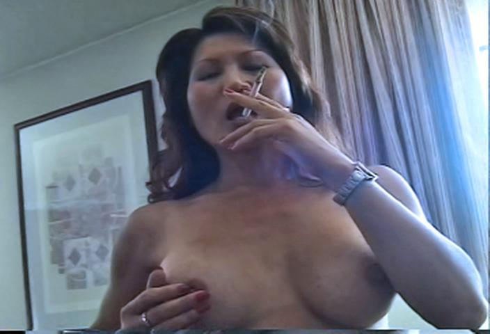 Mature smoking big tits