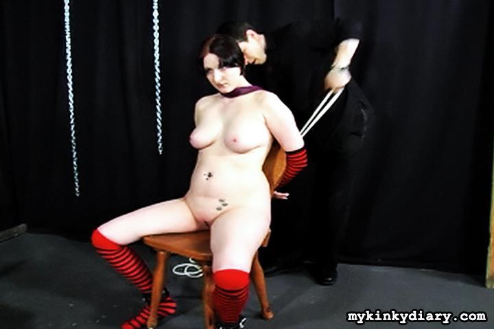 Chubby guy gets bondaged