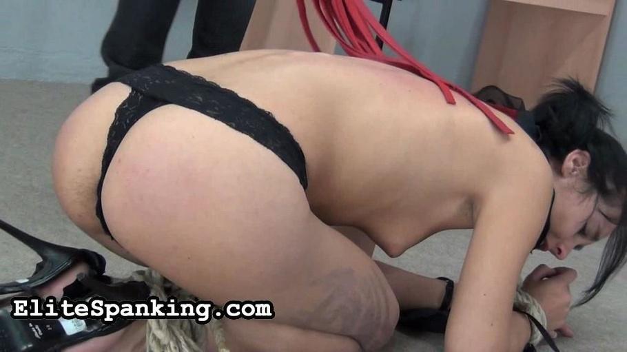 Asian woman lace panties