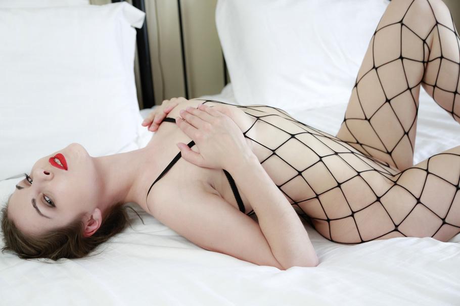 Young girl anal tube