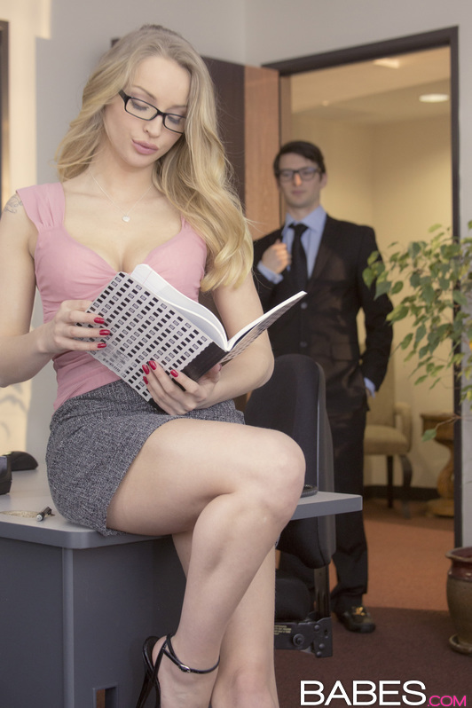 Are not Two girls fucking in an office