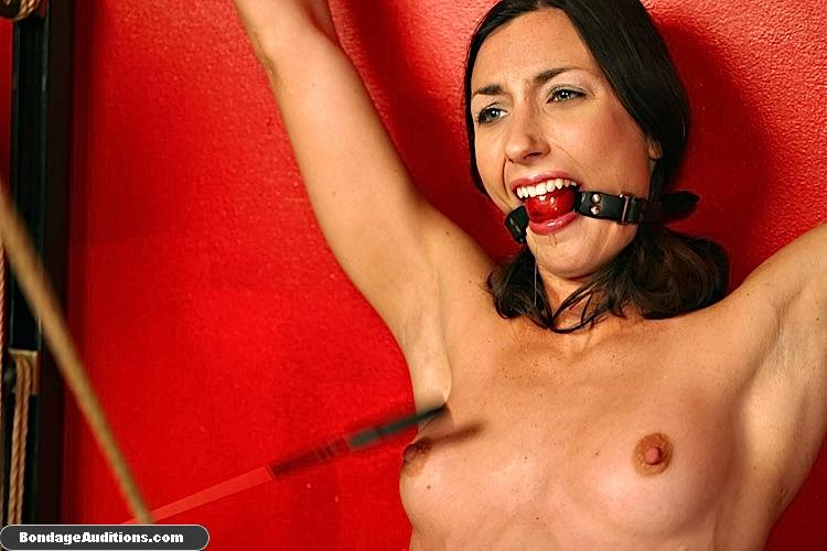 Tied up beauty gets a really painful cunt t - XXX Dessert - Picture 14
