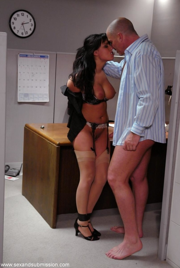 Horny Boss Asked His Gorgeous Secretary To Do Some Extra -4216