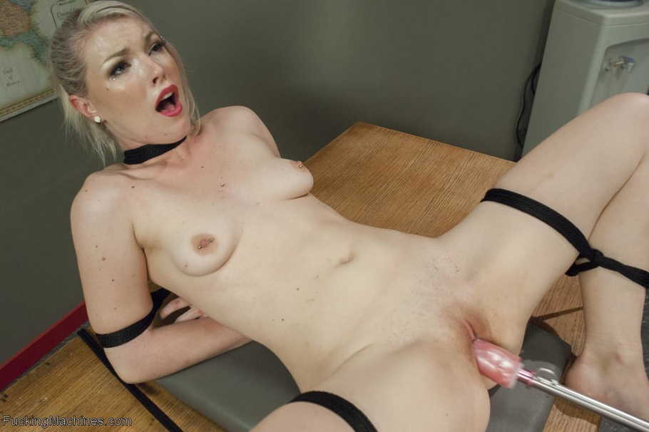 Tied up girl gets her feet tickled and worshiped