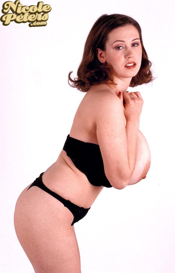 Slim girl in lingerie peeing on the toilet 9