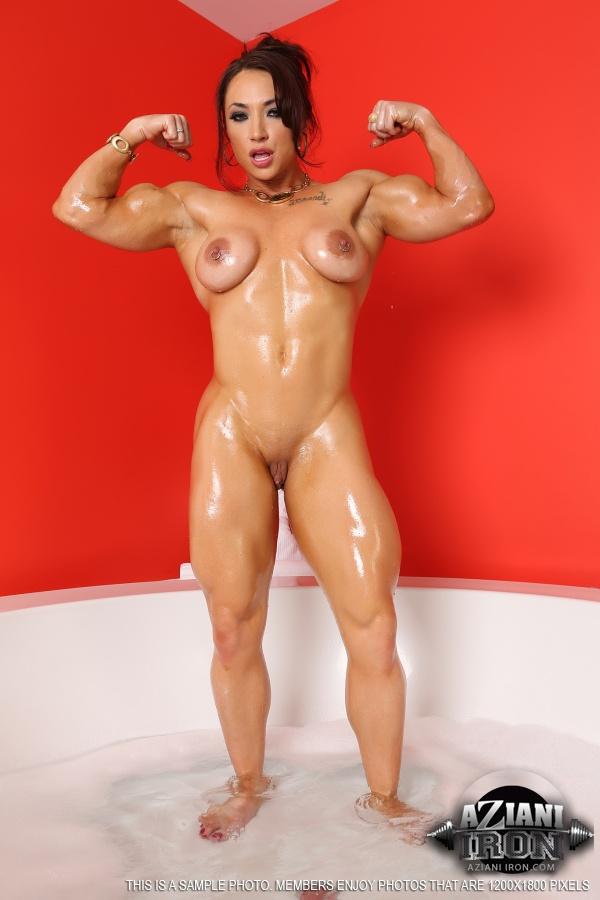 Women muscle butt