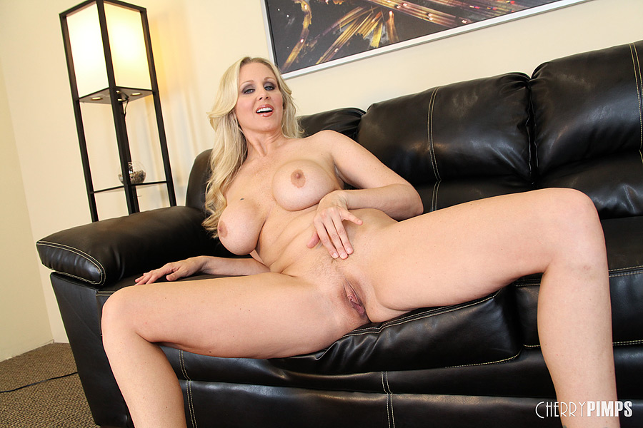 Masturbating busty blonde milf