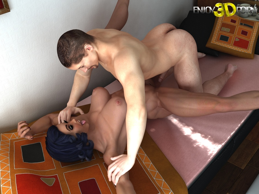 Horny And Funny Pin-Up Bodybuilder Gets Her Pussy Eaten -7985
