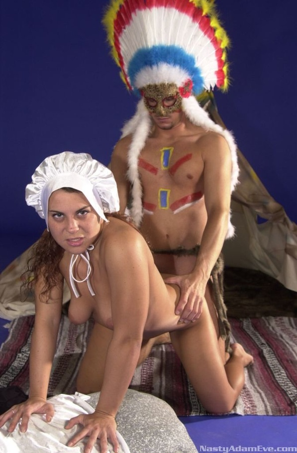 Maid Gets Her Ass Fucked By A Red Indian On Thanksgiving -7166