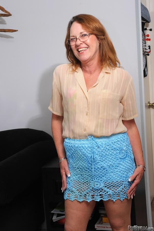 Granny mini skirt