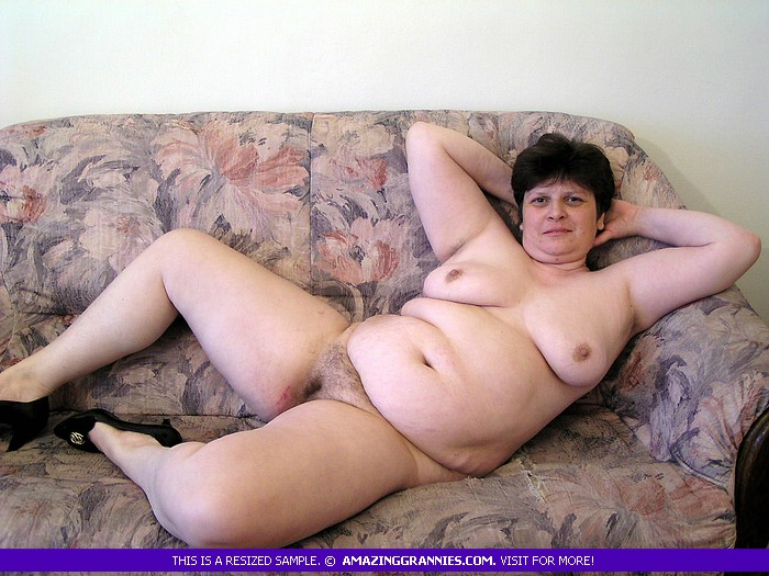 Mature granny hairy Fat nude
