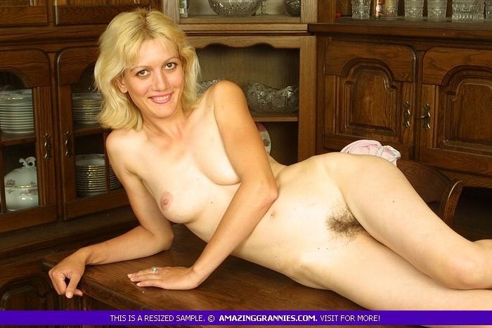 RAMONA: Skinny blonde granny porn