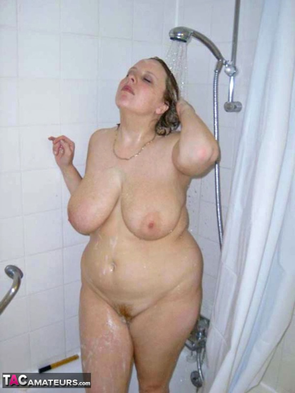This Fat, Pale, Natural Redhead Takes A Shower For The -8716