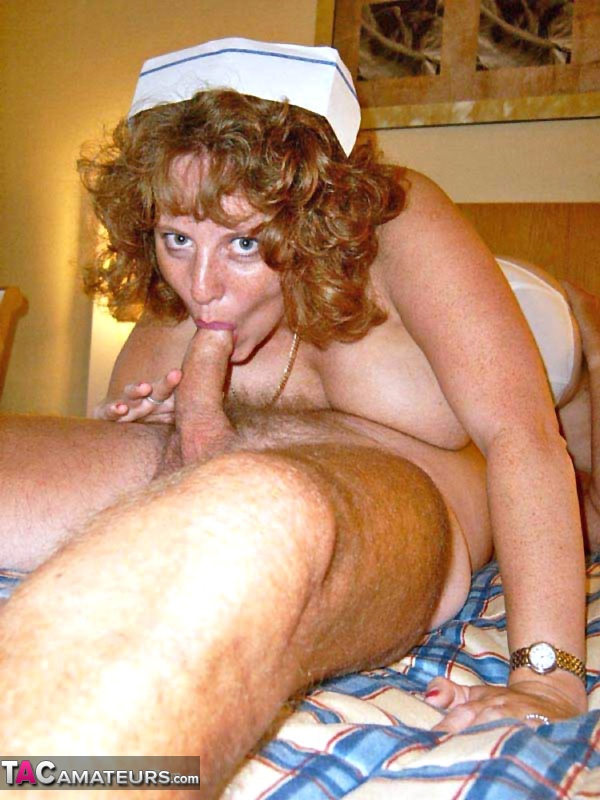 Glamour amateur nurse slut