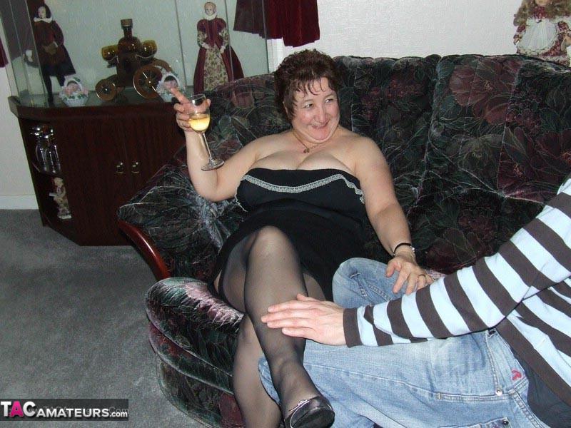 Amateur Granny Sucks On A Schlong And Then