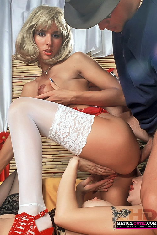 Petite Blonde Anal Stockings