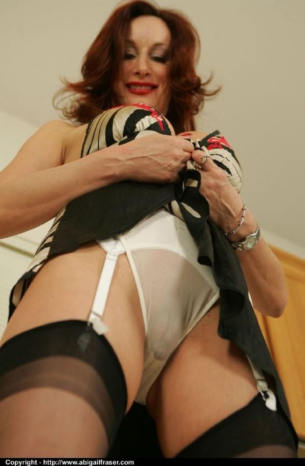 Milf in see through panty