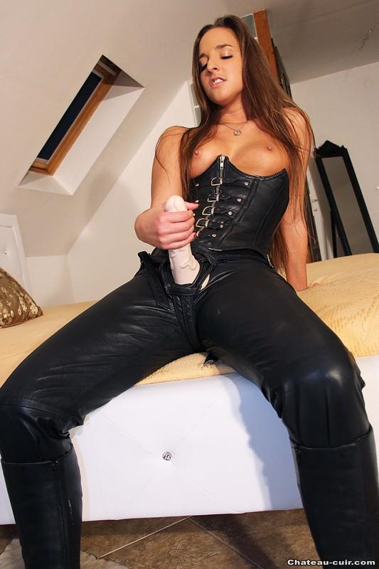 Cum On Latex Leather Pants