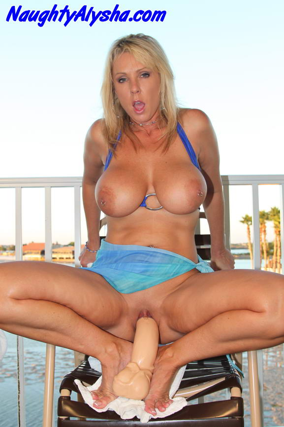 Have big blonde toy milf regret, that can