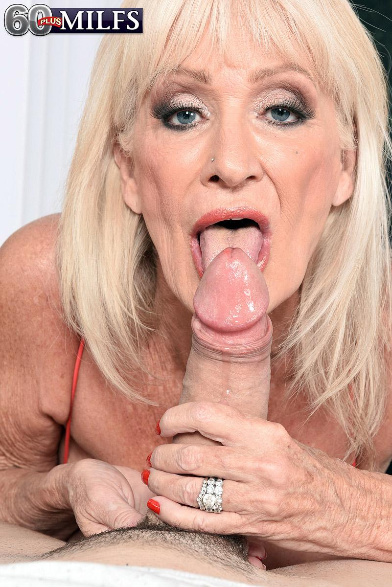 60 plus blonde granny