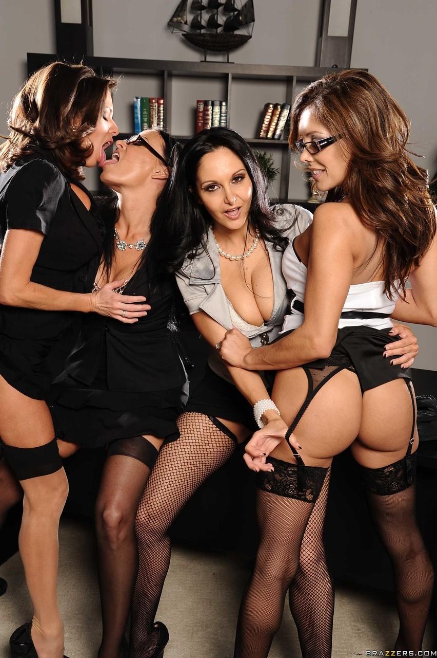 Lesbian Milf Strap Orgy