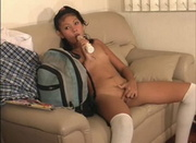 college student toying her