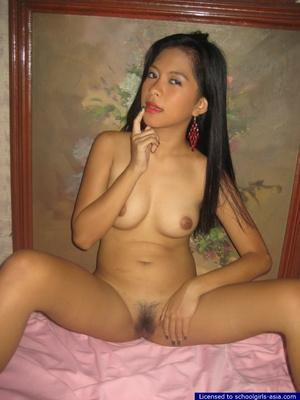 18yo Mia lifts her red nightie to unveil her tiny tits and her tight hairy pussy - XXXonXXX - Pic 10
