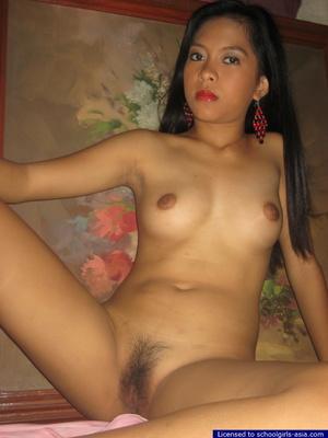 18yo Mia lifts her red nightie to unveil her tiny tits and her tight hairy pussy - XXXonXXX - Pic 12