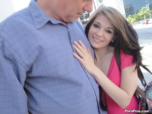 Horny young slut makes a grandpa so happ - XXX Dessert - Picture 2