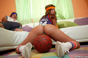 Juicy teen pussy sits on this jurassic c - XXX Dessert - Picture 4
