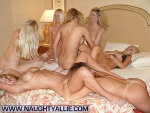 Seven Hot Chicks Playing With Each Other - XXX Dessert - Picture 5