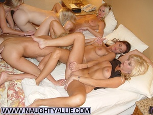 Seven Hot Chicks Playing With Each Other - XXX Dessert - Picture 9