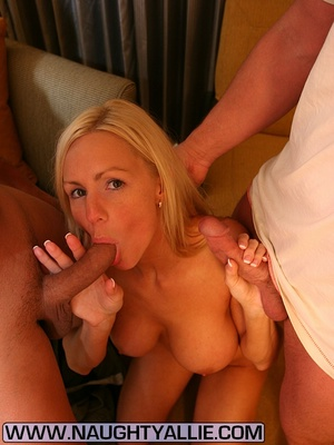 Wife Gets Double Team Then Dual Cumshots - XXX Dessert - Picture 3
