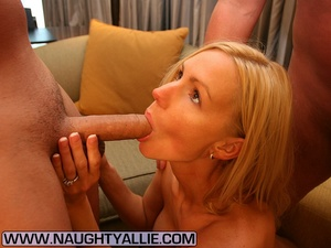 Wife Gets Double Team Then Dual Cumshots - XXX Dessert - Picture 4