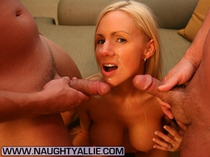 Wife Gets Double Team Then Dual Cumshots - XXX Dessert - Picture 14