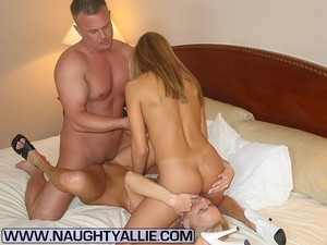Lucky Guy Fucks Two Hot Wives In A Hotel - XXX Dessert - Picture 14