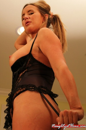 Naughty milf in lingerie and stockings w - XXX Dessert - Picture 5