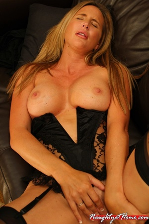 Naughty milf in lingerie and stockings w - XXX Dessert - Picture 12