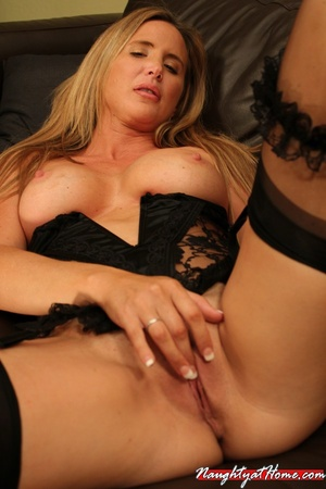 Naughty milf in lingerie and stockings w - XXX Dessert - Picture 14
