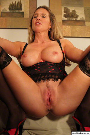 Hot blonde milf in lingerie and stocking - XXX Dessert - Picture 11