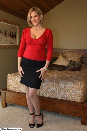 Sexy Blonde Slut Wife Stripping Down - XXX Dessert - Picture 2