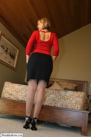 Sexy Blonde Slut Wife Stripping Down - XXX Dessert - Picture 3